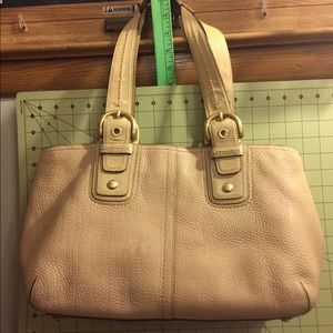 Coach pebble and smooth leather trim